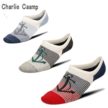 Charlie Campp 2018 New Spring And Summer Hot Mesh Hole Breathable Pirate Ship Pattern Stripes Decorative