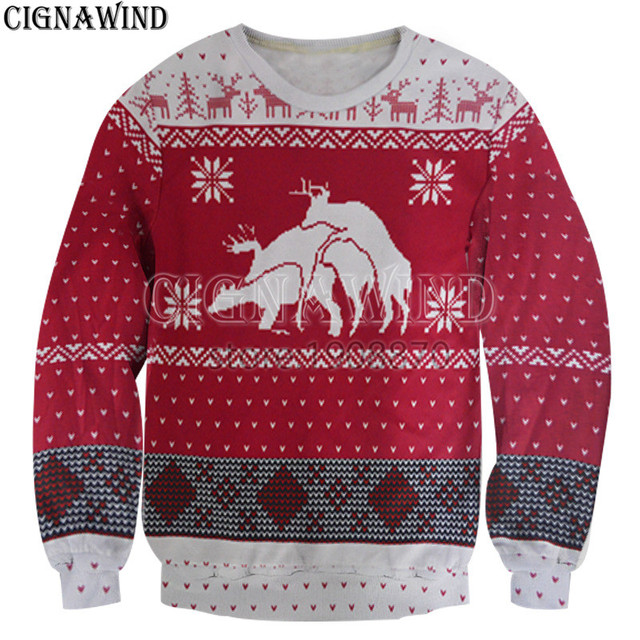 Weihnachten Funny.Us 18 61 10 Off Aliexpress Com Buy New Ugly Christmas Sweats Men Women Sweatshirts Funny Reindeer Long Sleeve Pullovers Fashion Christmas Style