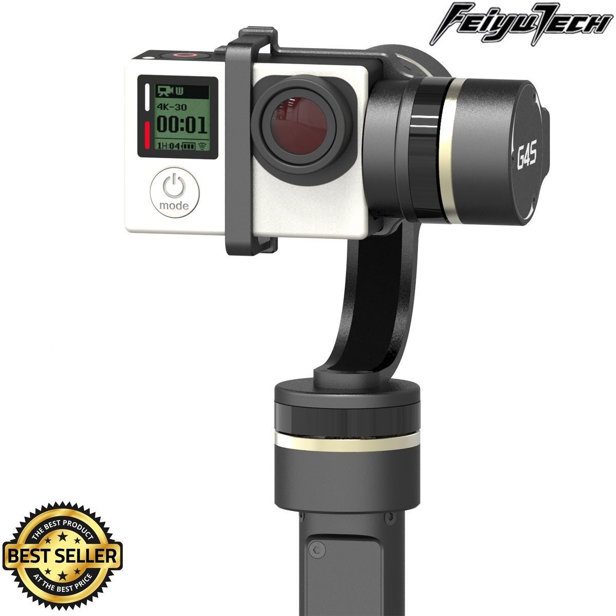 Feiyu Tech FY-G4S 3-Axis 360 Degree Handheld Steady Gimbal for GoPro Hero 3 3+ 4 TV59 feiyu tech fy wg2 3 axis waterproof handheld video stabilizer digital compact camera holder motion steadicam for gopro hero5 4