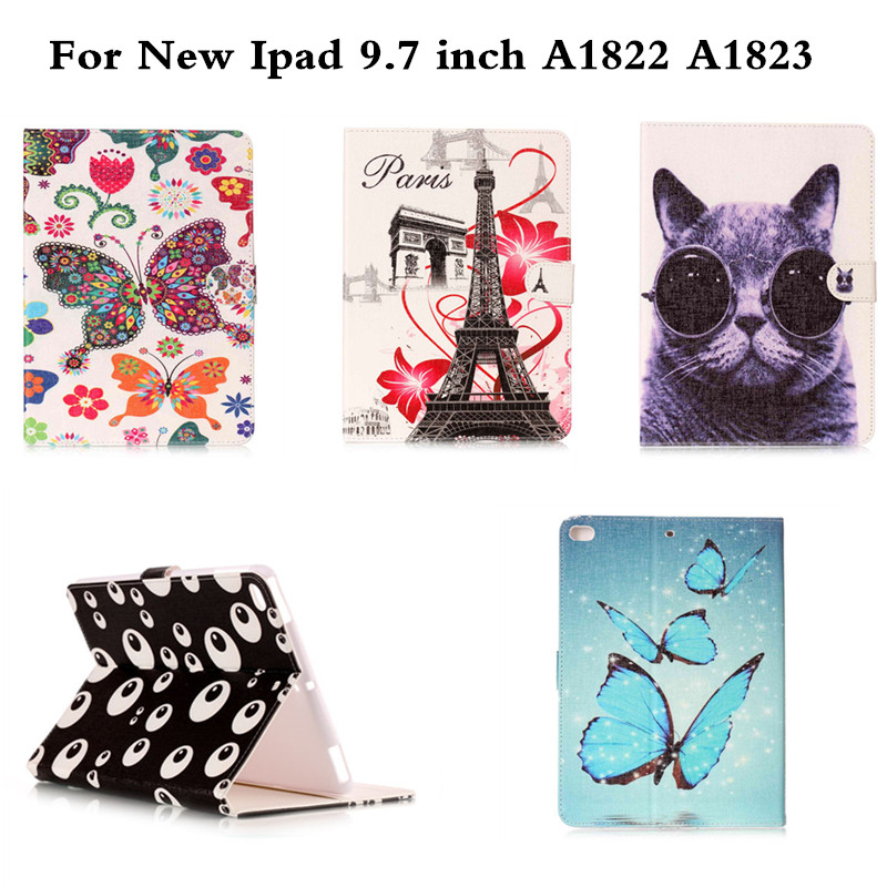 National style protective Sleeve PU Leather With Soft TPU Back Hybrid Case for New iPad 9.7 inch 2017 A1822 A1823 Tablet Cover