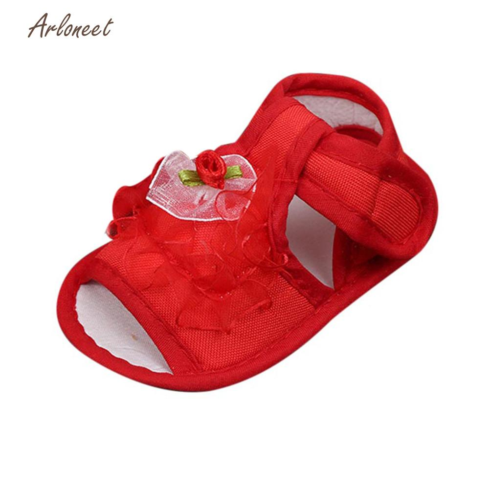 ARLONEET Sandals girls shoes fashion shoes for girls Soft childrens shoes 2018 Sole Anti-slip Sneakers Flower Sandals JA8