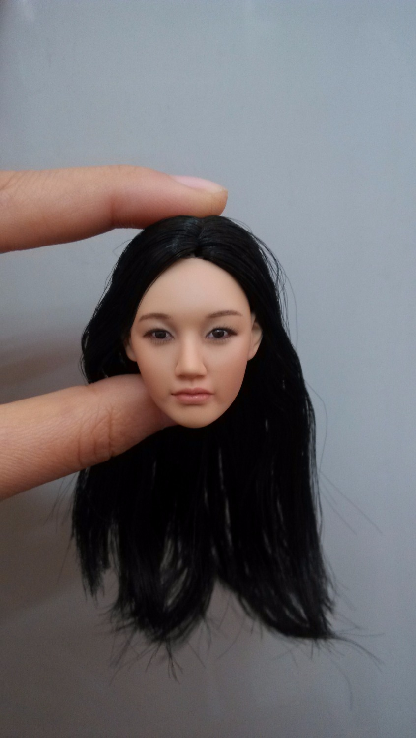 1/6  Headplay Figure Head Model Female Head Sculpt KM-38 NP Black Hair 12 Action Figure Collection Doll Toys Gift 1 6 popular km 38 female head sculpt model with black hair for 12 female action figure body doll toys