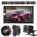 Brand New 7 Inch Black 12V Touch Screen 2Din Car MP5 FM AUX Player Bluetooth USB TF + Car Rear Camara USB TF AUX