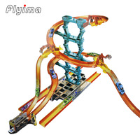 2018 1set car toy carros brinquedos hot car wheels racing track Three dimensional whirling children assembly Gift For Kid boy