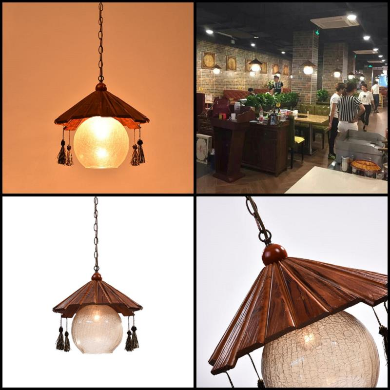 American country Pendant Lights retro solid wood single head diffuse cafe clothing shop restaurant antique bar light LU71483 -YM classical chinese food industry restaurant bar cafe original wood single head pendant lights rmy 0247