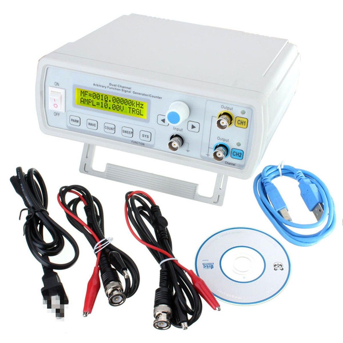 24 MHz double canal forme d'onde arbitraire DDS fonction générateur de Signal onde sinusoïdale carré balayage compteur forme d'onde/fréquence d'impulsion Mete