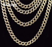 Uodesign Iced Out Bling Rhinestone Crystal Goldgen Finish Miami Cuban Link Chain Men S Hip Hop