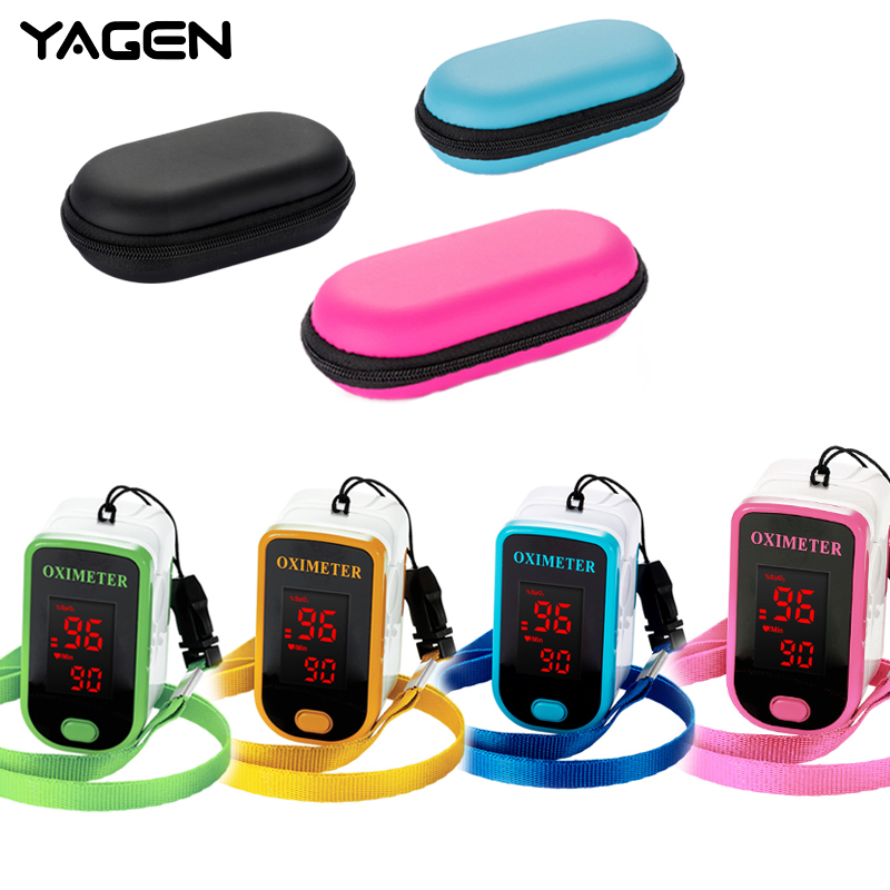 Finger Pulse Oximeter With Case Fingertip Oximetro De Pulso De Dedo LED Pulse Oximeters Saturator Pulsioximetro(China)