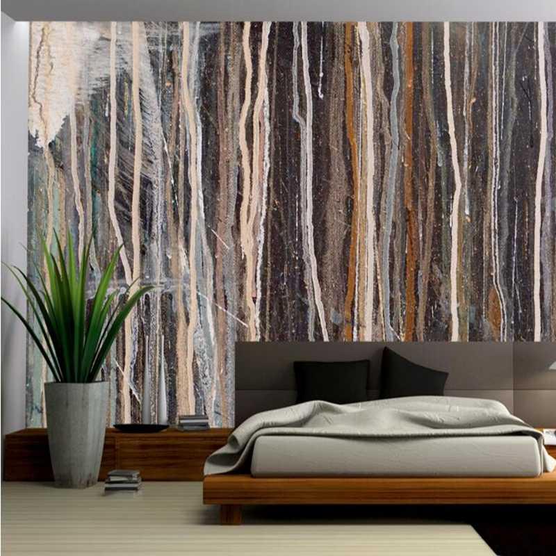 Modern Wall Art Custom Wallpaper Murals Abstract Texture Oil Living Room Paint Ideas Wallpaper Design For Bedroom Room Decor