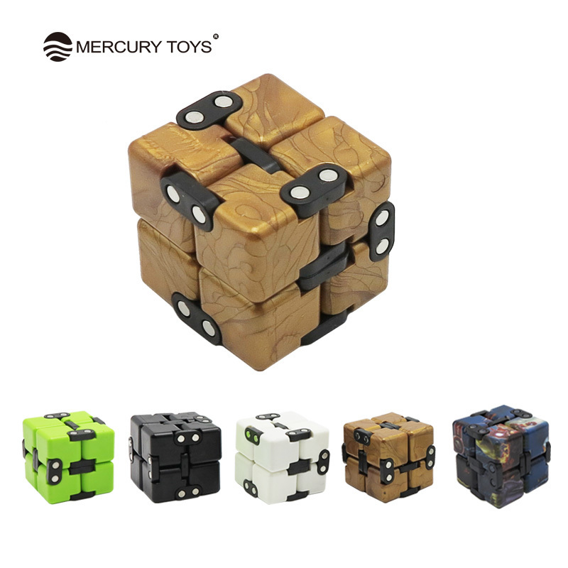 Infinite Magic Cube Creative Square Finger Fidget cube Office flip Cubic Puzzle anti stress reliever autismanxiety stress toys