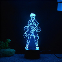 Naruto 7 Colors Changing 3D Visual Modelling Led Night Table Lamp