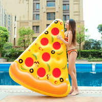 Inflatable Mattress Pizza Slices Pool Floating Island Swimming Circle Ring Water Boat Toy Beach Bed For Adults Children Boia