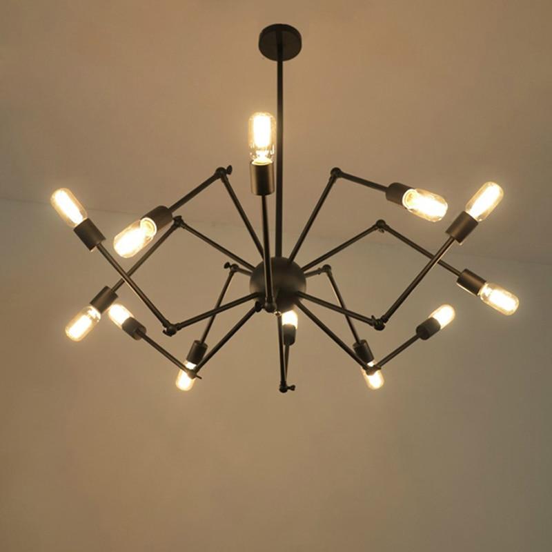 ༼ ộ_ộ ༽12 головка Арт-Деко паук подвесной светильник Утюг ...