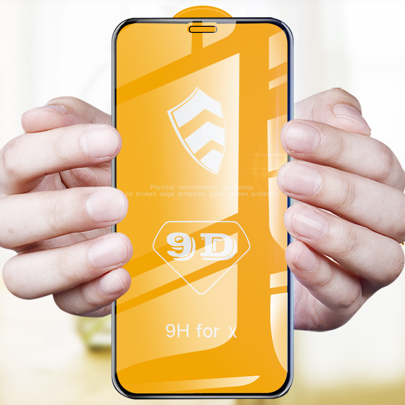 MAODI 9D Protective Glass For iPhone 7 Screen Protector iPhone 8 Xr Xs Xs Max Tempered Glass On iPhone X 6 6s 7 8 Plus Xs Glass