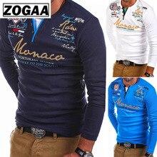 ZOGAA Tshirt Men 2019 New Fashion Long-sleeved T-shirt Striped Fold Raglan Sleeve Style Tops Tees Slim Solid Color T Shirt Men striped trim raglan sleeve jacket
