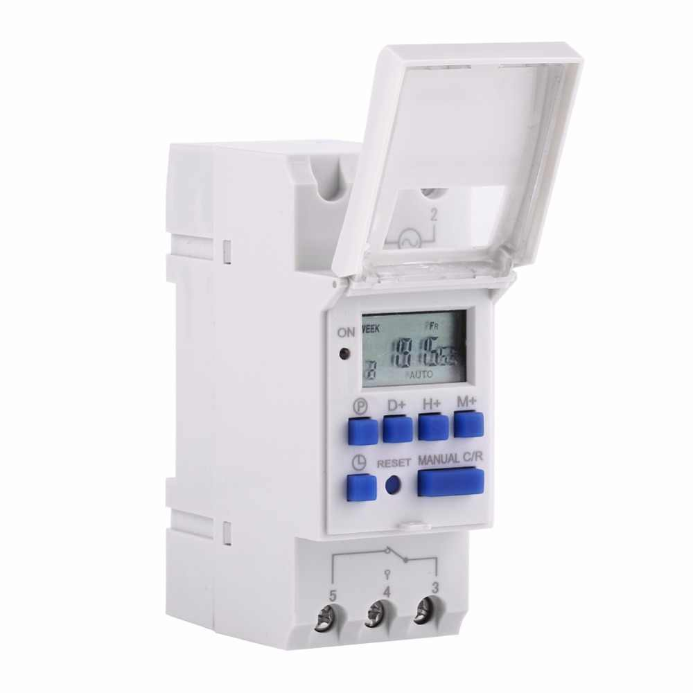 Microcomputer Electronic Weekly Programmable Timer Digital Timer Switch Time Relay Control 220V 110V 12V 24V 25A Din Rail Mount