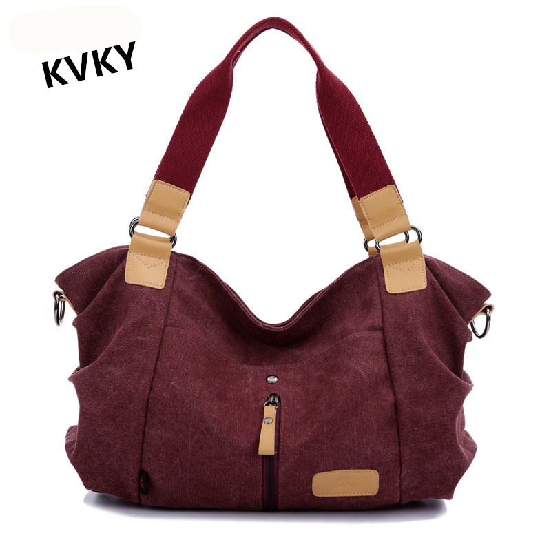 KVKY2017 New Style Women Tote Handbag Fashion Shopping Bag Casual Canvas Shoulder Bags Large Capacity Crossbody Bag CH079 weiju new canvas women handbag large capacity casual tote bag women men shoulder bag messenger crossbody bags sac a main
