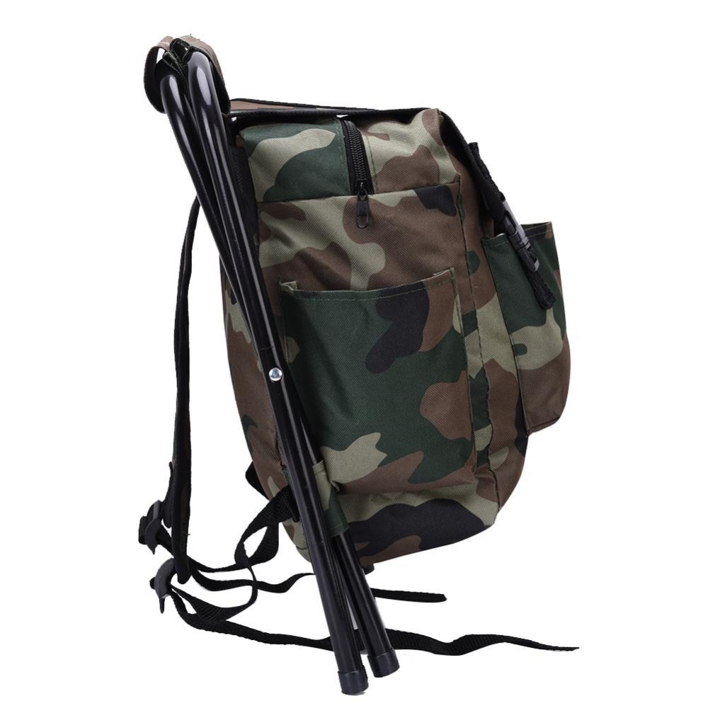 Camouflage Folding Portable Climbing Fishing Backpack Chair Wide Range Of Uses Foldable Portable And Convenient Wear-resistant