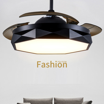 Modern Ceiling Fans with LED Chandelier with Remote Control