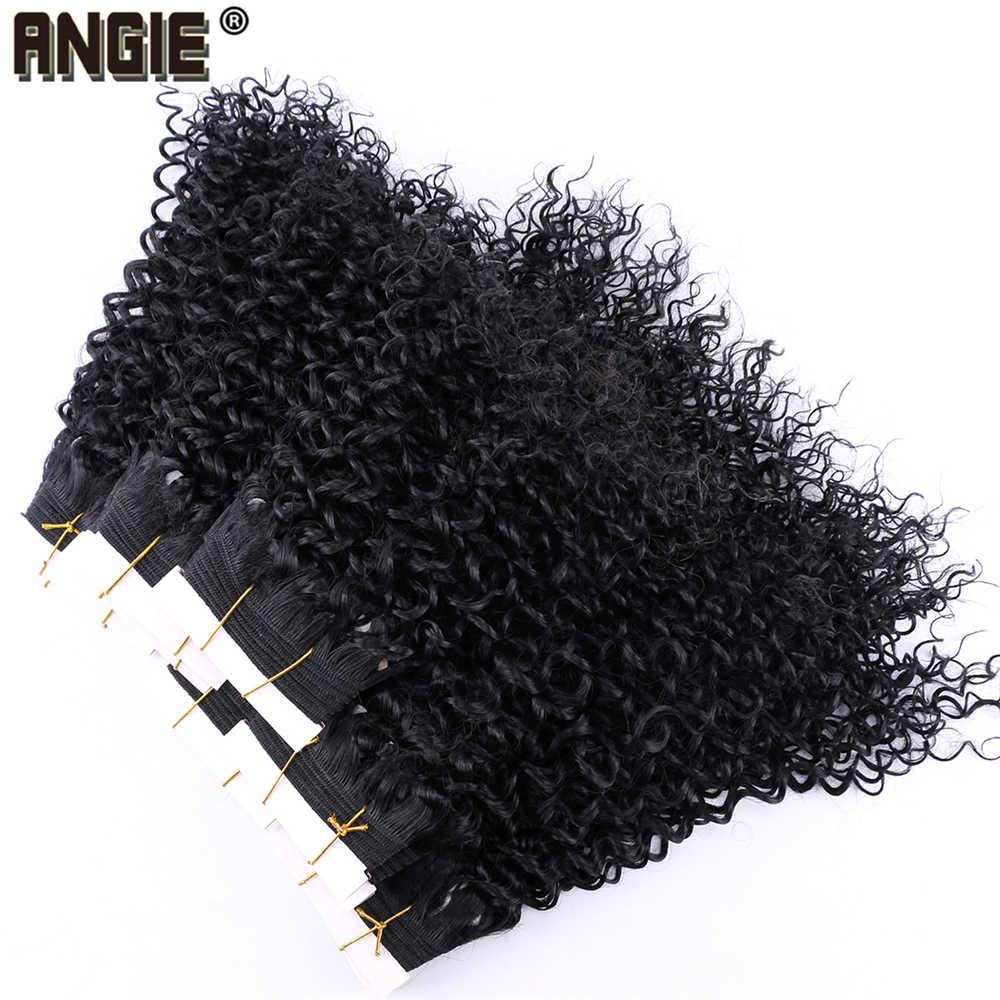 Натуральные черные синтетические волосы пучки афро кудрявые вьющиеся волосы для наращивания продукт