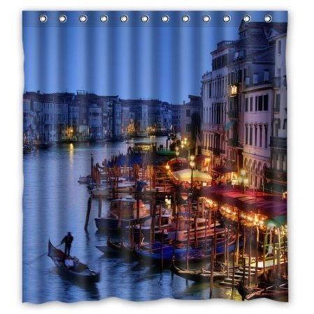 City Views Venice Italy Grand Canal Waterproof Moldproof Shower Curtain 180x180cm Polyester Fabric Bathing Curtains With Hook