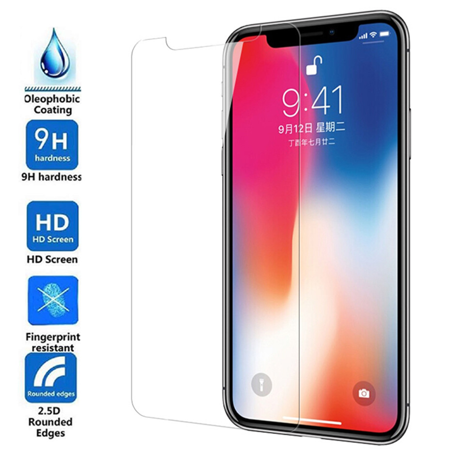 Image 3 - 3PCS Tempered glass for iphone 8 plus screen protector for iPhone 7 plus glass film for iPhone X XR XS MAX 6 6s 5 5S 5C SE 4 4S-in Phone Screen Protectors from Cellphones & Telecommunications