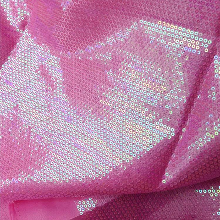 3mm Sequin Fabric Material Sparkling Glitter Sequins IRIDESCENT PURPLE Paillette
