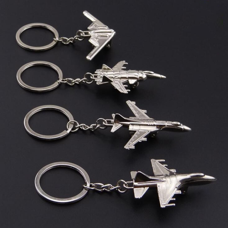 High Quality 3D Metal Model Airplane Aircraft Key Chains For Women Men Charm Pendants Car Keyring Keychain Jewelry Creative Gift car ornaments solar airplane model aircraft interior model car gift ideas