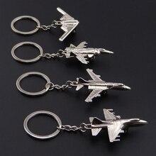 High Quality 3D Metal Model Airplane Aircraft Key Chains For Women Men  Charm Pendants Car Keyring 60574d216