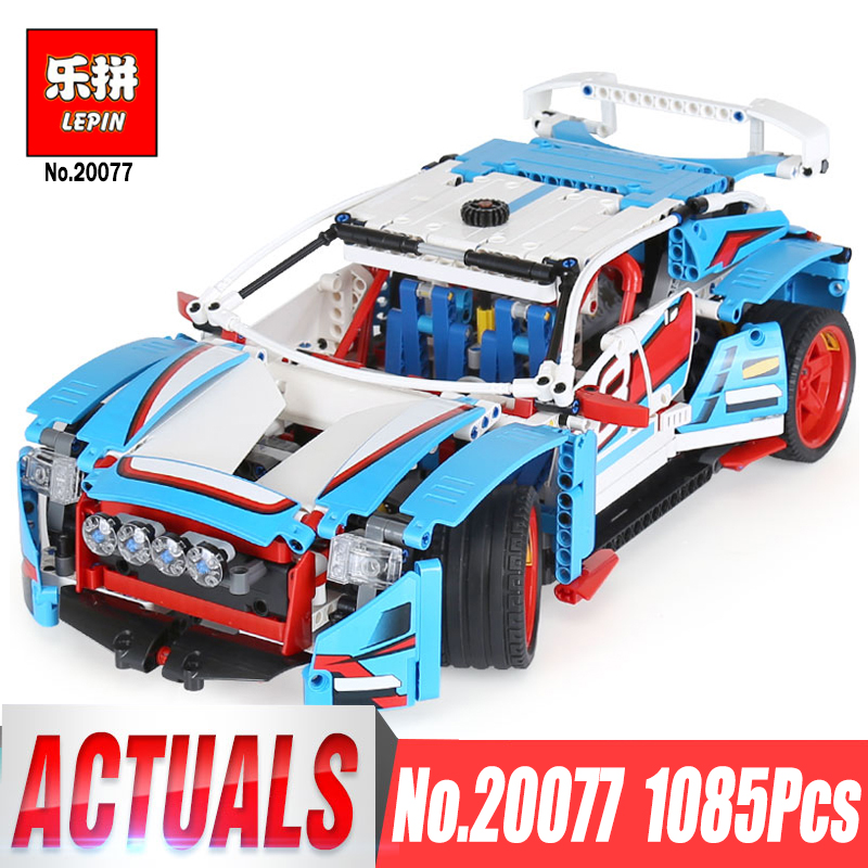 Lepin 20077 Genuine Technic Series The Rally Car Set legoing 42077 Building Blocks Bricks Educational Funny Children Toys Gifts lepin 23013 genuine technic series the remote control off road car set 2314pcs building kits blocks bricks legoing gifts