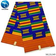 LIULANZHI Polyester Wax DIY ankara wax 6 Yard  African Fabric Batik For Women ML13L348-356