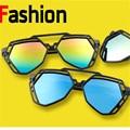 7 Colors Women  Fashion Irregular Polygonal Hollow Sunglasses Brand Desinger Luxury Sun Glasses For Men Women