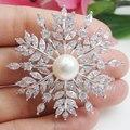 Австрийский хрусталь Роскошный Снежинка Невесты Свадебный Цветок Корсаж Брошь Pin