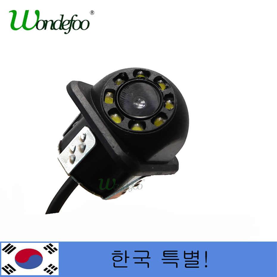 Wondefoo! 韓国! 韓国! ユニバーサル CCD HD 駐車場リアビューカメラ 8 Led ナイトビジョン防水逆バックアップカメラ