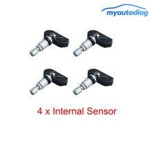 Для TPMS внутренний 4 x внутренний датчик безопасности автомобиля Диагностика TPMS система контроля давления в шинах колпачки