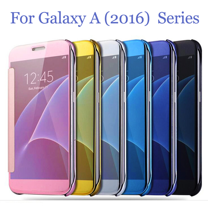 for samsung galaxy a510 a5 2016 a3 2016 a7 a8 new luxury smart flip slim view electroplating. Black Bedroom Furniture Sets. Home Design Ideas