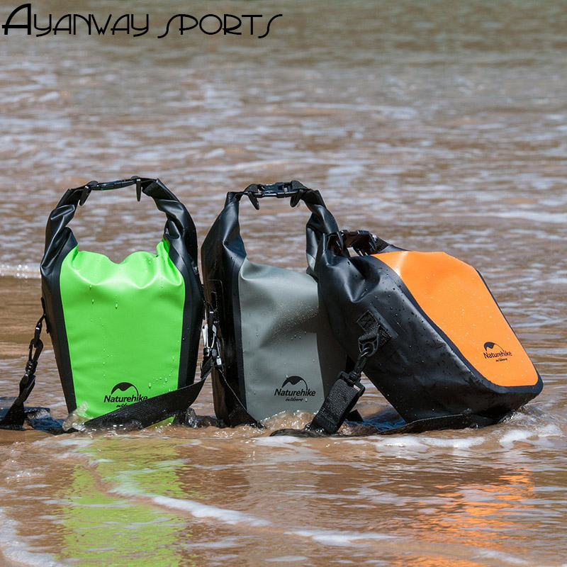 Naturehike 500D pvc Waterproof SLR bag camera bag swimming pack drifting beach outdoor phone bag light portable one shoulder bag in Swimming Bags from Sports Entertainment