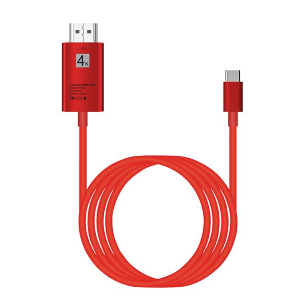 Audio Video Cable 2M USB 3.1 Type-C USB-C to 4K HDMI HDTV Cable Adapter Compatible For Macbook Samsung S8 HTC