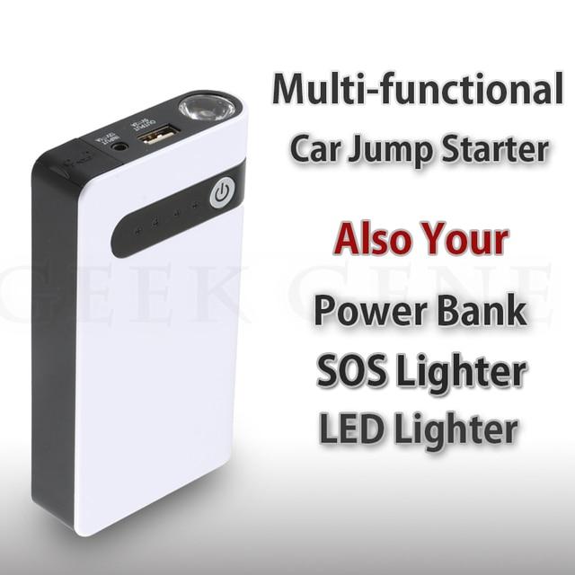 2017 New Capacity 12V Petrol Diesel 12000mAh Car Jump Starter USB Power Bank SOS Lights 400A Peak Car Battery Charger Free Ship