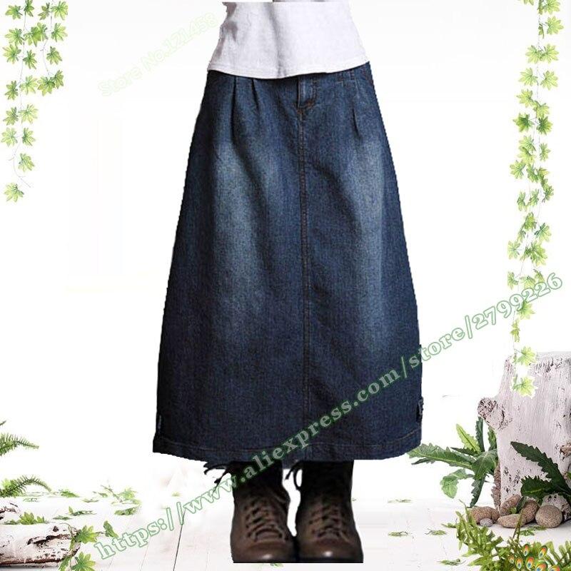 41fe829db2 Azul Denim Faldas Larga Vintage Verano Vaqueros Corte 2019 De Nueva Mujer  Falda midi Slim Y ...