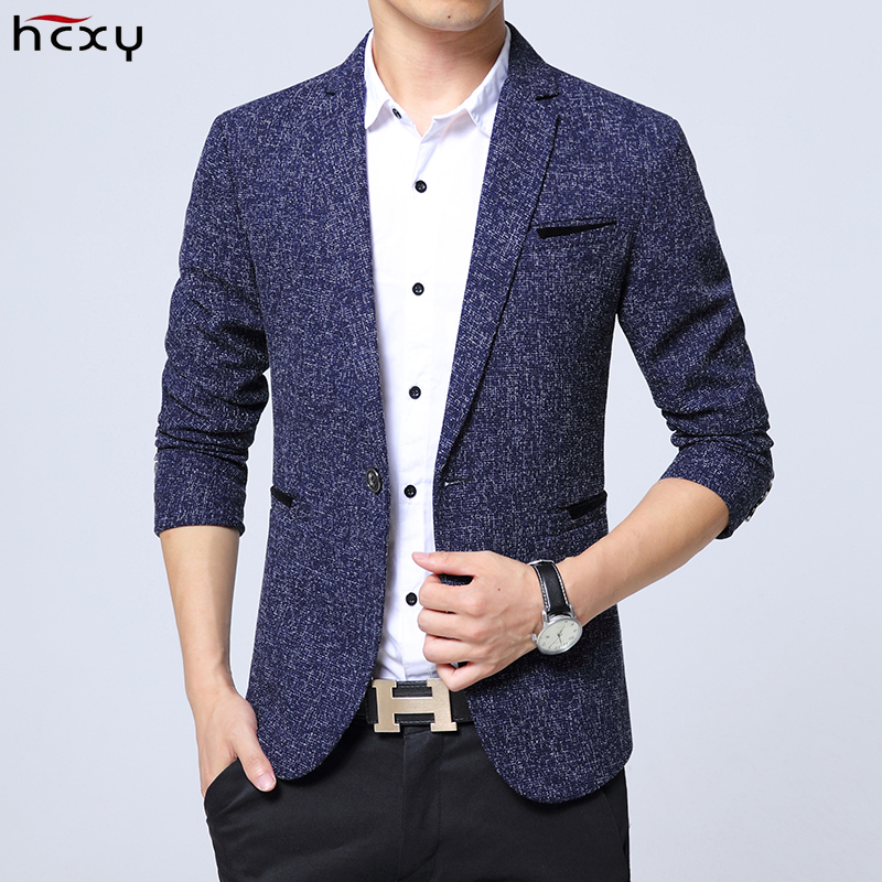 Men's autumn and winter casual Slim blazers men high-quality fashion business suit jacket male large size Terno Masculino M-5XL