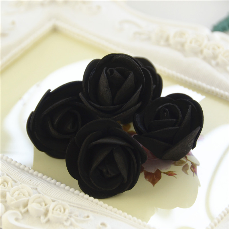 50pcs/Bag Multicolor Mini Rose Head Artificial Flowers For Wedding And Festival Party 16