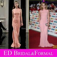 Cheryl Cole Rosa Abendkleid an Stolz von Großbritannien Awards Roter Teppich Chiffon Promi Formale Abendkleid vestidos formales