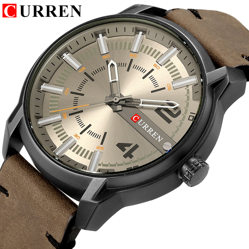 CURREN Brand Wristwatches Fashion New Arrival Simple Style Casual Business Men Watches High Quality Leather Strap Quartz Clock