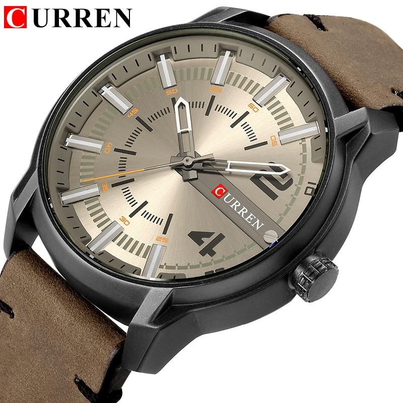 CURREN Brand Wristwatches Fashion New Arrival Simple Style Casual Business Men Watches High Quality Leather Strap Quartz Clock|Quartz Watches| |  - title=