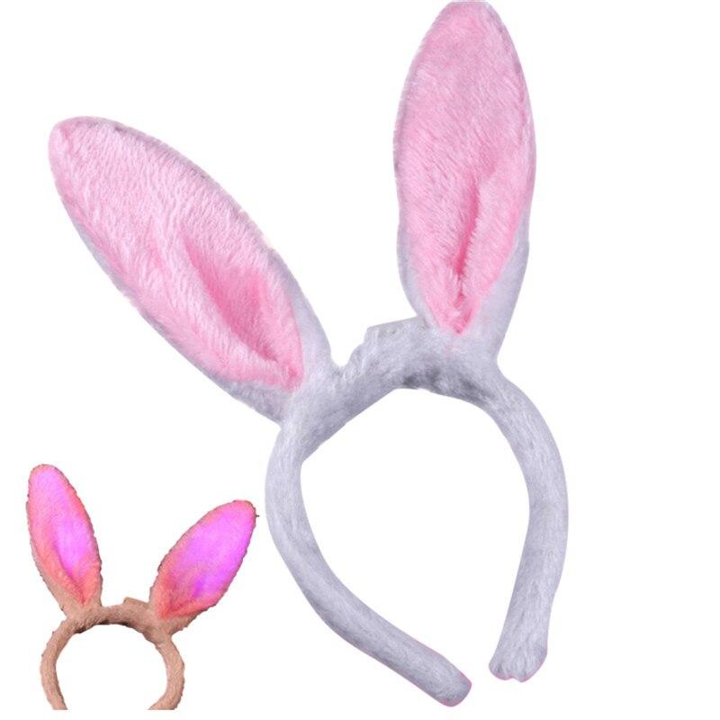 New Plush Fluffy Bunny Rabbit Ears Headband Costume Accessory Dress Up New DSUK