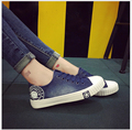 2017 new Spring Autumn adult women shoes  flat lace up rubber sole denim canvas casual shoes A05