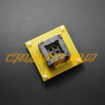 цена на IC TEST QFP44 TQFP44 LQFP44 ic test socket QFP44 with PCB socket 0.8mm pitch size=10x10/12x12mm