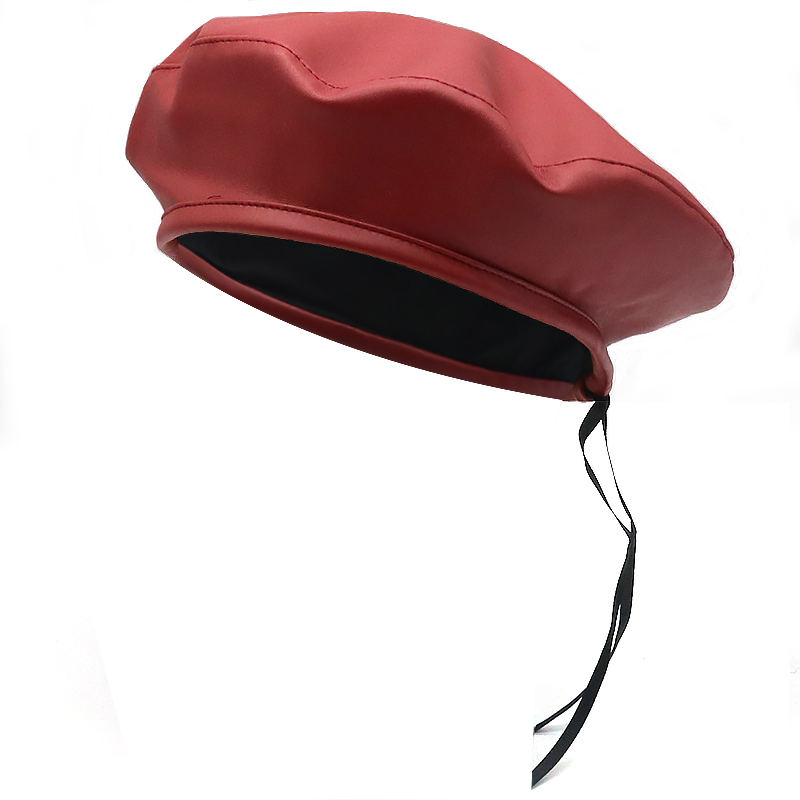 All Matched Fashion Leather Beret Cap Hat Adjustable Women Men Berets Street Style Casual Caps Autumn Warm Hats Wholesale Comfortable And Easy To Wear