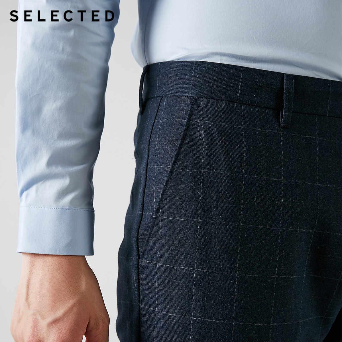 اختيار الرجال الخريف سليم صالح منقوشة سراويل تقليدية S | 418314558